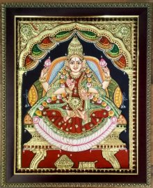 Mahalakshmi Tanjore Painting | Painting by artist VANI VIJAY | other | Wood