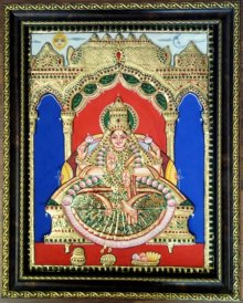 Lakshmi Tanjore Painting II | Painting by artist VANI VIJAY | other | Wood