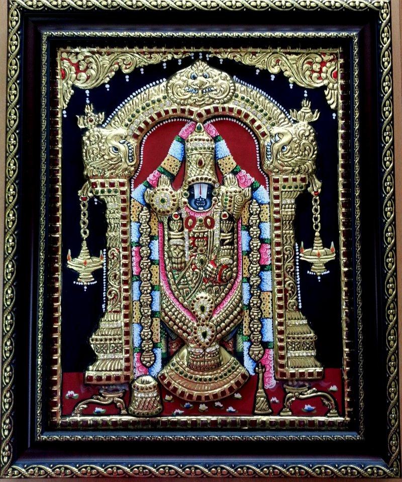 Balaji Tanjore Painting by VANI VIJAY Plywood  : bl01 from www.artzolo.com size 800 x 958 jpeg 261kB