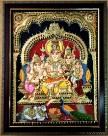 art, traditional, tanjore, plywood, religious