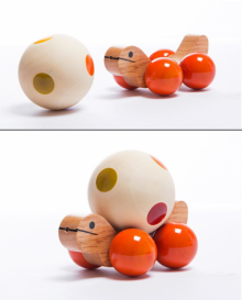Jolly Turtle Orange Wooden Toy | Craft by artist Oodees Toys | wood