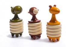 Vijay Pathi | Nectar Set Of 3 Wooden Rattles Craft Craft by artist Vijay Pathi | Indian Handicraft | ArtZolo.com