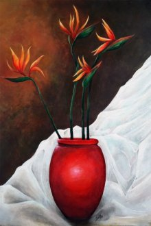 Still-life Acrylic Art Painting title 'Lovely Life' by artist Seby Augustine