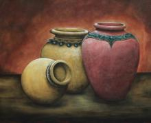 Still-life Acrylic Art Painting title 'Togetherness' by artist Seby Augustine