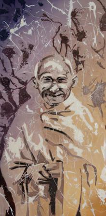Figurative Oil Art Painting title A tribute by artist Gunjan Adya