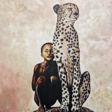 Animals Acrylic Art Painting title The tribe by artist Gunjan Adya