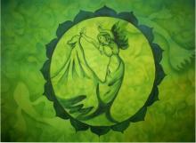 Sripad Kulkarni | Life Under Water Mixed media by artist Sripad Kulkarni on Acid Wash Paper | ArtZolo.com