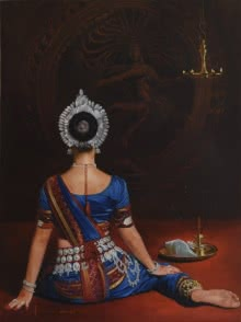 Natraj | Painting by artist Kamal Rao | oil | Canvas