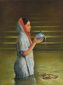 Prayer | Painting by artist Kamal Rao | oil | Canvas