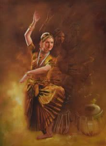 Realistic Oil Art Painting title 'Grace' by artist Kamal Rao