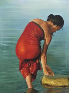 Lady | Painting by artist Kamal Rao | oil | Canvas