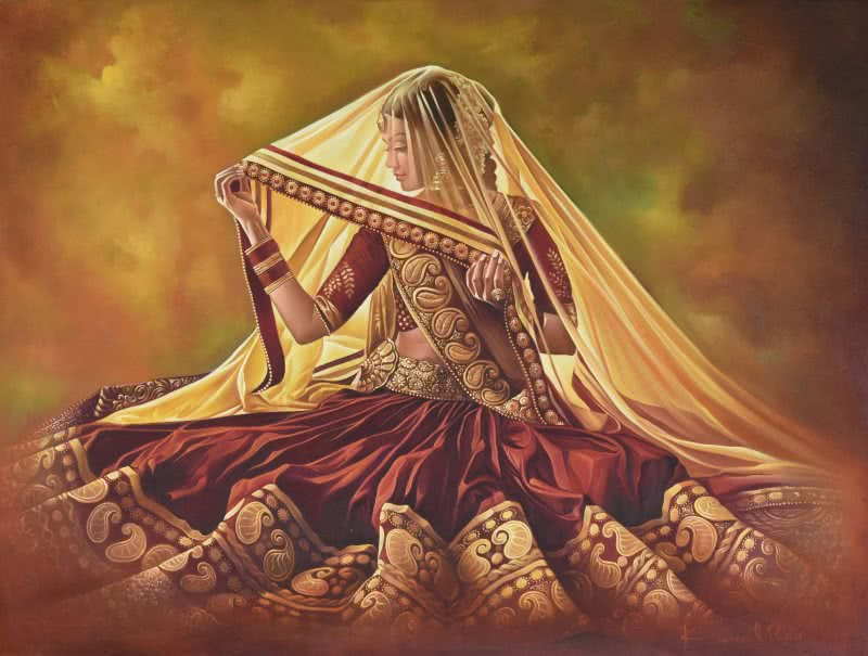 Oil paintings of indian dancers