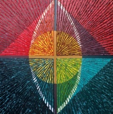 Abstract Acrylic Art Painting title 'Geometrical Abstraction 1' by artist Sandesh Khule