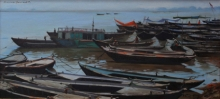 Seascape Oil Art Painting title Untitled 1 by artist Sachin Sawant
