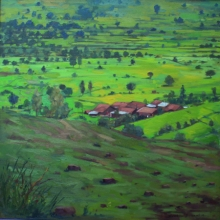 Nature Oil Art Painting title Untitled 2 by artist Sachin Sawant