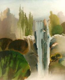 Nature Acrylic Art Painting title 'Serenity' by artist Joychandra Sharma