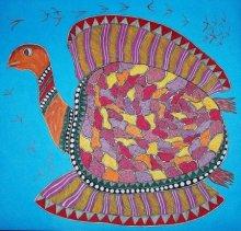 Motivational Acrylic Art Painting title 'Tortoise' by artist Preeti Das