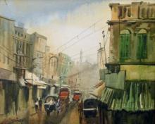 Ekta Singha Paintings | Acrylic Painting - City View by artist Ekta Singha | ArtZolo.com