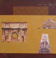 Sanjay Paintings | Acrylic Painting - Indian Monument Wall Ii by artist Sanjay | ArtZolo.com