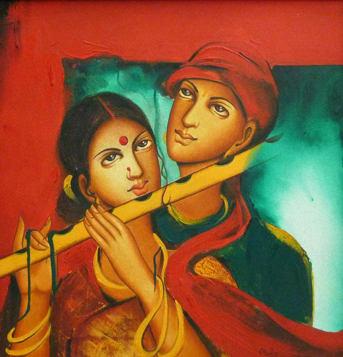 Couple In Love By Artist Monica Figurative Art Acrylic Paintings