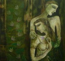Sanjay Sinha Paintings | Acrylic Painting - Love by artist Sanjay Sinha | ArtZolo.com