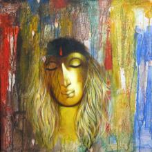 Manoj Aher Paintings | Acrylic Painting - Shades Of Woman by artist Manoj Aher | ArtZolo.com
