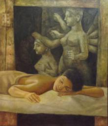 Dipak Paintings | Acrylic Painting - Spa by artist Dipak | ArtZolo.com