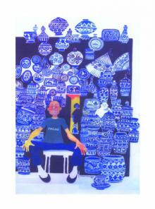 Famous Blue Pottery | Painting by artist Mario Miranda | other | Paper