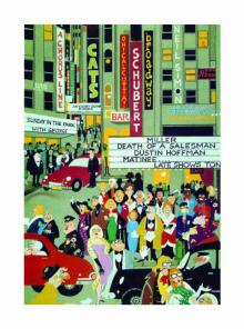 Mario Miranda | Other Painting title Bustling Broadway on Paper | Artist Mario Miranda Gallery | ArtZolo.com
