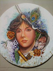 Figurative Acrylic Art Painting title manmohna by artist Sonia Kumar