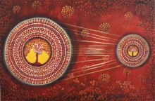 contemporary Acrylic Art Painting title Connection series 1 by artist NITU CHHAJER