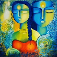 contemporary Acrylic Art Painting title Inner Harmony by artist NITU CHHAJER