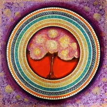 NITU CHHAJER Paintings | Acrylic Painting - Mandala A Soul Connection 4 by artist NITU CHHAJER | ArtZolo.com