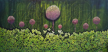 Nature Acrylic Art Painting title Natures Abode by artist NITU CHHAJER