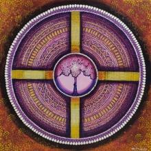 contemporary Acrylic Art Painting title Wheel Of Life by artist NITU CHHAJER