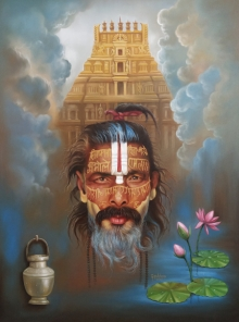Religious Oil Art Painting title Indian Sadhu 2 by artist Gopal Sharma