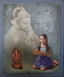 Religious Oil Art Painting title Untitled 2 by artist Gopal Sharma