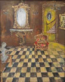 Still-life Acrylic Art Painting title 'Baroque 3' by artist Sheetal Singh