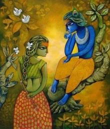 Bansidhar 15 | Painting by artist Ramchandra B Pokale | acrylic | Canvas