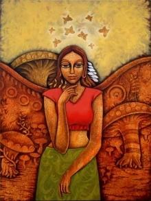 Yauvana 26 | Painting by artist Ramchandra B Pokale | acrylic | Canvas
