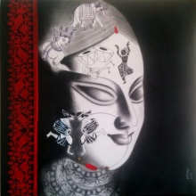 Devi 35 | Painting by artist Uttara Joshi | mixed-media | Canvas