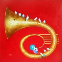 Music Acrylic Art Painting title 'Memories Of The Childhood Xi' by artist Shiv Soni
