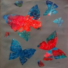 Nature Acrylic Art Painting title 'My Butterflies ii' by artist Shiv Soni