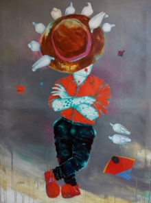 Expressionist Acrylic Art Painting title 'Passion Of The Childhood V' by artist Shiv Soni