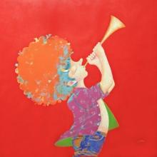 Pop Art Acrylic Art Painting title The Childhood 25 by artist Shiv Kumar Soni