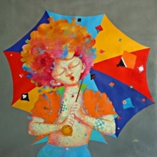 Shiv Kumar Soni Paintings | Acrylic Painting - The Childhood xix by artist Shiv Kumar Soni | ArtZolo.com