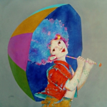 Shiv Kumar Soni | Acrylic Painting title The Childhood Xvi on Canvas | Artist Shiv Kumar Soni Gallery | ArtZolo.com