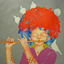 Shiv Kumar Soni | Acrylic Painting title The Childhood Xxv on Canvas | Artist Shiv Kumar Soni Gallery | ArtZolo.com