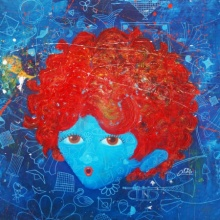 The Innocence ix | Painting by artist Shiv Kumar Soni | acrylic-oil | canvas