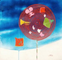 Shiv Soni | Acrylic Painting title Treasure Of The Childhood V on canvas | Artist Shiv Soni Gallery | ArtZolo.com